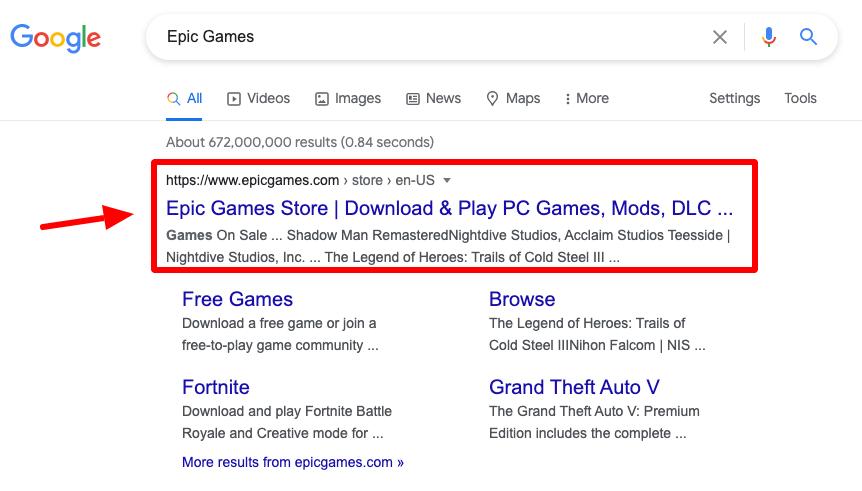 go to the epicgames.com website